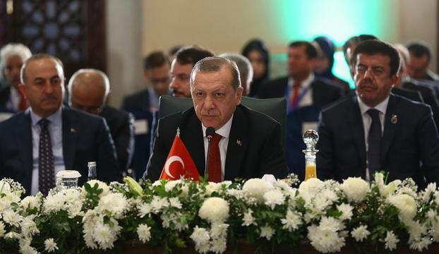 Cumhurbaşkanı Erdoğan EİT Zirvesinde liderlere hitap etti