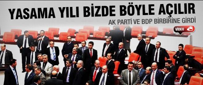 Meclis'te BDP ve AK Parti kavgası