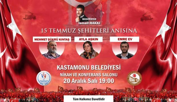 15 Temmuz kahramanları Kastamonuda halkla buluştu