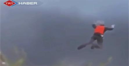 test300 metreden yere çakıldı!