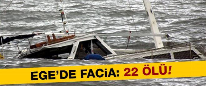 Tekne alabora oldu: 22 ölü