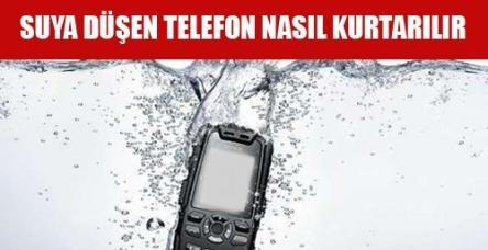 Suya düşen telefonu kurtarma yolları
