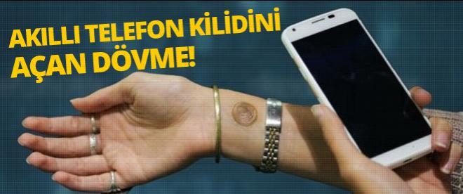 Akıllı telefon kilidini açan dövme!