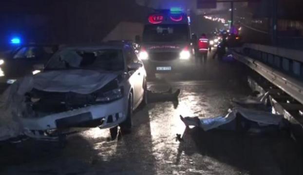 TEMde 3 kadına otomobil çarptı: 2 ölü, 1 ağır yaralı