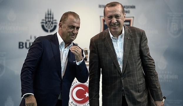 Erdoğandan Terime destek