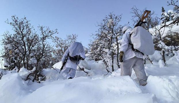 Terörle mücadele zorlu kış şartlarına rağmen sürüyor