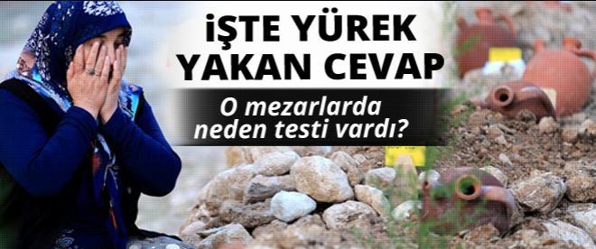 Soma madencilerinin mezarlarında neden testi var?