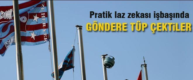 TFF bayrağı yerine tüp