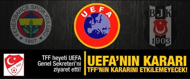 'UEFA'nın kararı TFF'nin kararını etkilemeyecek'