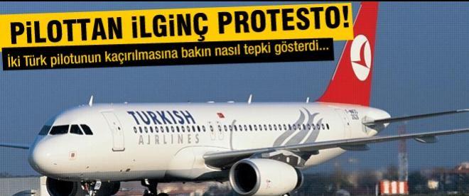Kaçırılan pilotlar için ilginç protesto