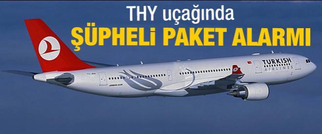 THY uçağında şüpheli paket
