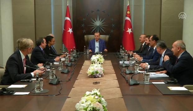 Erdoğanın, ABD Dışişleri Bakanı Tillersonu kabul etti