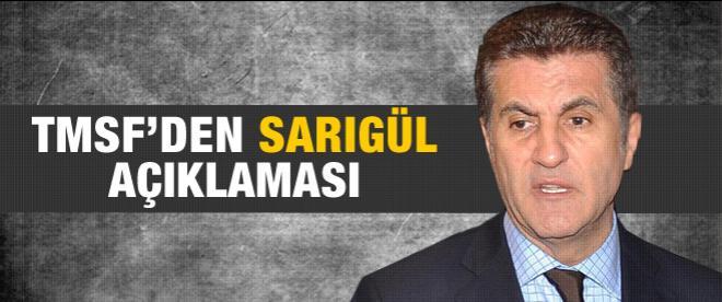 TMSF'den Mustafa Sarıgül açıklaması