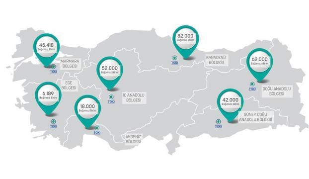 TOKİden 258 bin konutluk kentsel dönüşüm