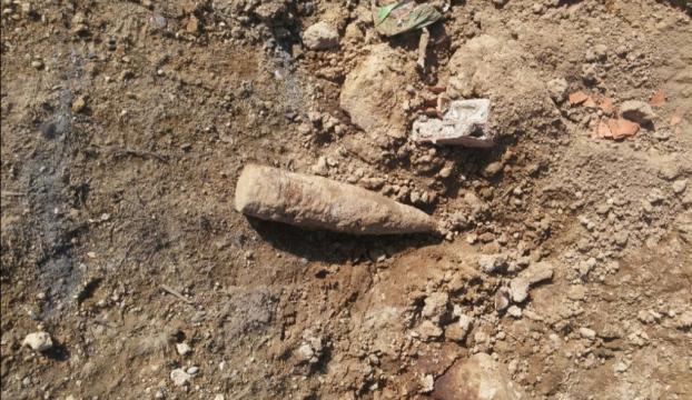 Kurtuluş Savaşından kaldığı tahmin edilen top mermisi bulundu