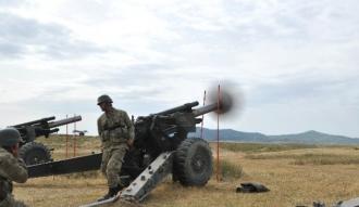 PYD/PKK'nın Afrin'deki mevzilerine topçu atışı yapılıyor