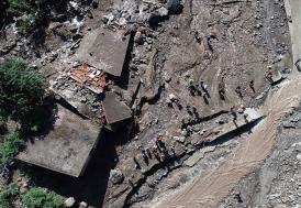 Trabzon'da sel, kayıplar için ekipler çalışıyor