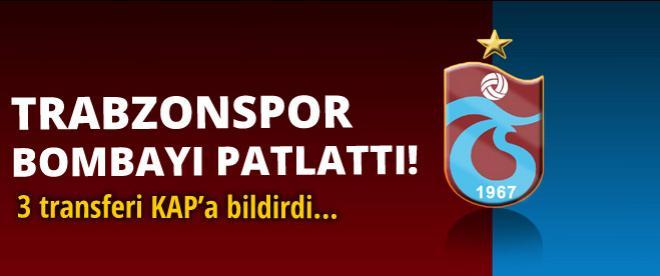 Trabzonspor 3 bombayı patlattı
