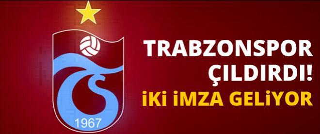 Trabzonspor çıldırdı 2 imza geliyor