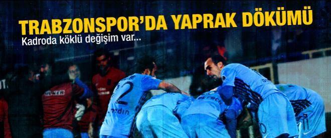 Trabzonspor'da yaprak dökümü zamanı