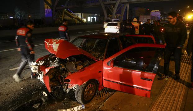 Başkentte trafik kazası: 1 ölü, 3 yaralı