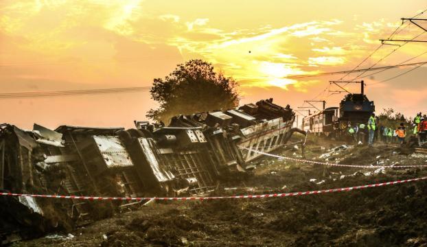 Tekirdağdaki tren kazasında 24 vatandaşımız yaşamını yitirdi