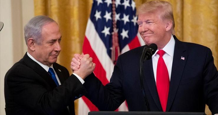 Trump, sözde Orta Doğu barış planının öngördüğü İsrail ve Filistin haritasını paylaştı