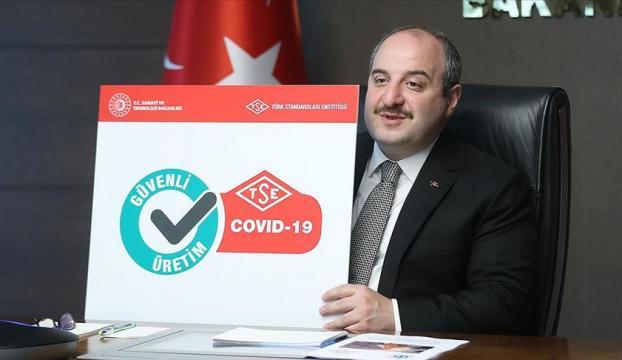 Kovid-19 Güvenli üretim belgesi tanıtıldı