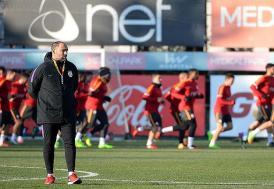 Galatasaray, Atatürk Olimpiyat Stadı'nda çalıştı