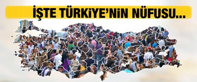 TÜİK Türkiye nüfusunu açıkladı