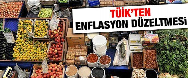 TÜİK'ten enflasyon düzeltmesi