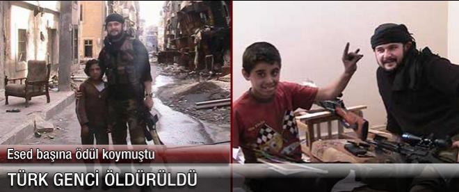 Esad'ın başına ödül koyduğu Türk genci öldürüldü