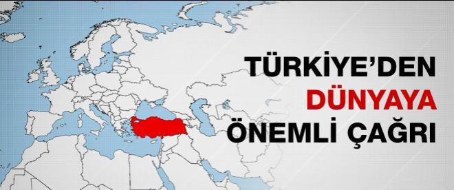 Türkiye'den dünyaya Mısır çağrısı