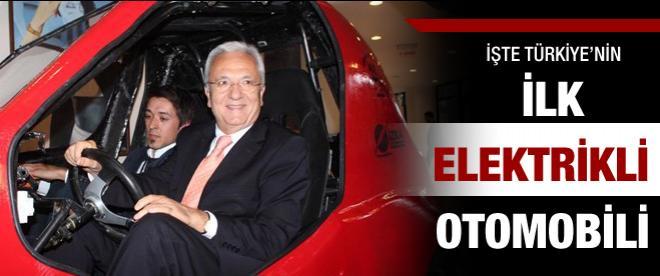 İşte Türkiye'nin ilk elektrikli otomobili!