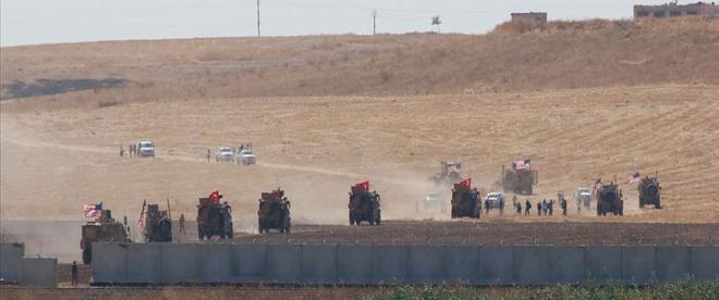 Türk ve ABD askerlerinden Suriye sınırında inceleme