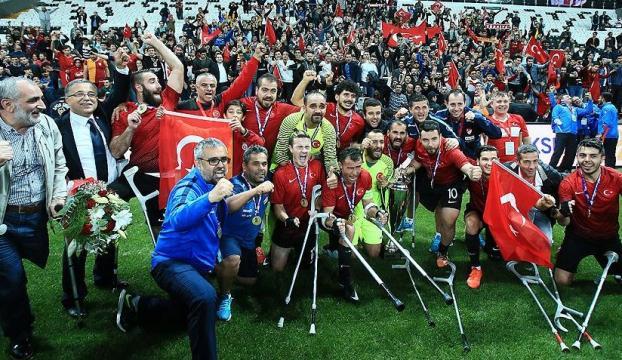 Türkiye Milli Ampute Futbol Takımımız Avrupa şampiyonu