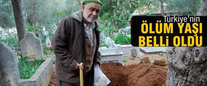 Türkiye'nin ölüm yaşı belli oldu