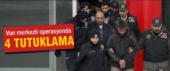 Van merkezli operasyonda tutuklama
