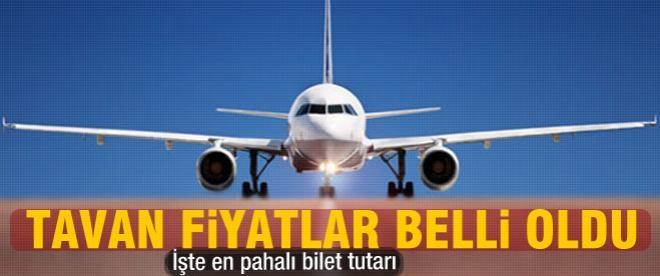 Uçak biletlerinde tavan fiyat belli oldu