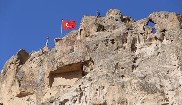 Sağlık çalışanları Kapadokyadaki Uçhisar Kalesini ücretsiz gezebilecek