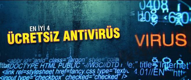 En iyi 4 ücretsiz antivirüs