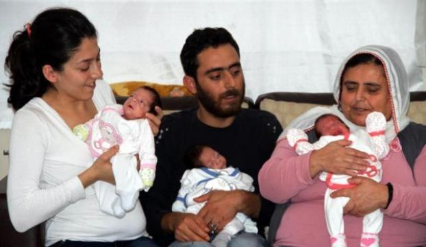 Üçüzlerin babası Erdoğana seslendi