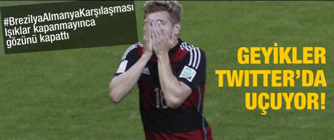 Maçın skoru twitter'da yankılandı