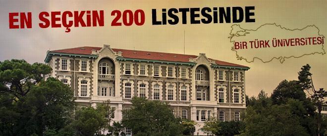 O listeye ilk kez bir Türk üniversitesi girdi