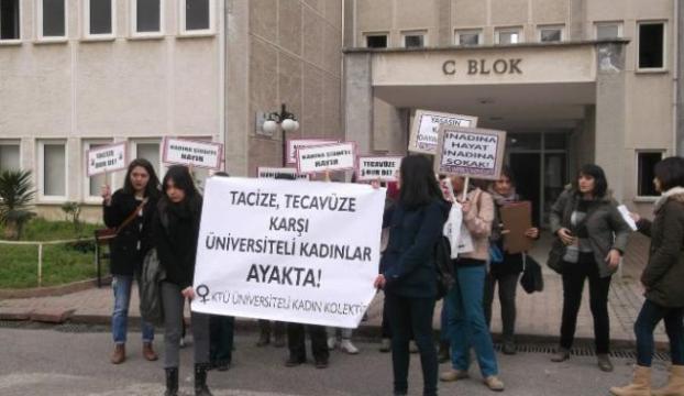 Üniversiteli kızların taciz isyanı