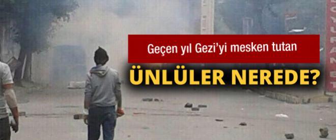 Geçen yıl Gezi'deki ünlüler nerede?