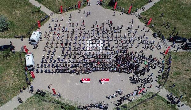 Vanda PKKlı teröristlerin şehit ettiği işçiler son yolculuklarına uğurlandı