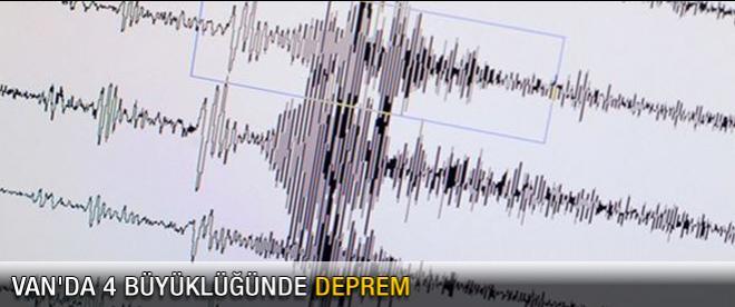 Van'da 4 büyüklüğünde deprem
