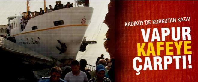 Kadıköy'de vapur kazası