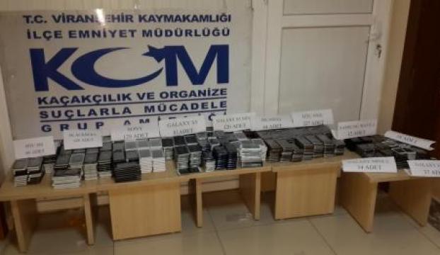 950 adet kaçak cep telefonu ele geçirildi